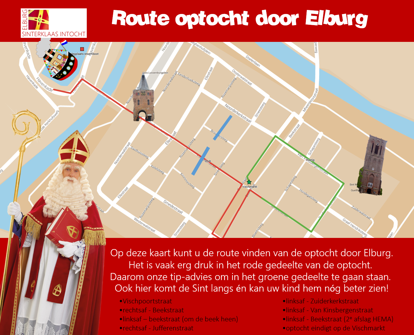 Route door Elburg